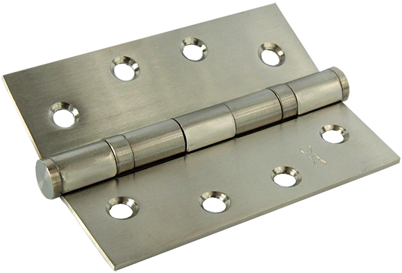 Solid Stainless Steel Heavy Duty Plain Ball Bearing Hinges - 100x75mm